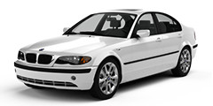White BMW E46 and M3 with Factory Alloys