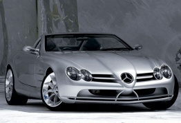 Mercedes SLR R199 Roadster with original Mercedes Wheels
