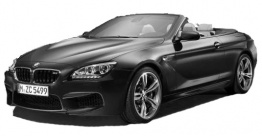 BMW 6 Series F12 M6 Convertible with original BMW Wheels