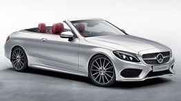 Mercedes C Class A205 Convertible with original Mercedes Wheels