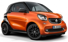 Smart C453 ForTwo Coupé with original Smart Wheels