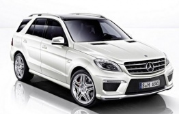 Mercedes M Class W166 ML63 AMG SUV with original Mercedes Wheels