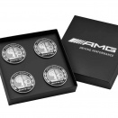 Genuine AMG Emblem Centre Cap Set in Black Case