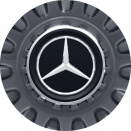 Genuine AMG Centre Cap Large Spoked Grey