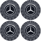 AMG Centre Cap Set - Large Spoked Grey