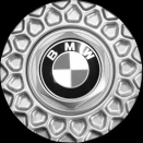 Genuine BMW 5 Nogaro Silver centre caps
