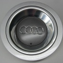 Genuine Audi 150mm Metallic Grey Centre Caps