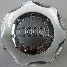 Genuine Audi 150mm Diamond Silver Centre Caps