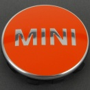 Genuine MINI Centre Cap Set Bright Orange Small