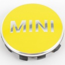 Genuine MINI Centre Cap Set Bright Yellow Small