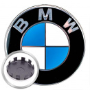 Genuine BMW Centre Caps Chrome Edge (Recent 5x112 wheels)