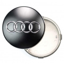 Genuine Audi 60mm Matt Black Centre Caps