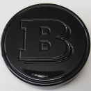 Genuine Smart Brabus Black Centre Caps