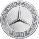 Genuine Mercedes Roadster Grey Raised Star Caps