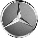 Genuine Mercedes Chrome Himalaya Grey Caps