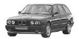 BMW 5 Series E34 Touring with original BMW Wheels