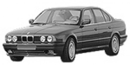 BMW 5 Series E34 Saloon with original BMW Wheels