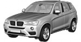 BMW X3 F25 Sports Utility Vehicle with original BMW Wheels