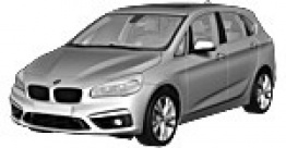 BMW 2 Series F45 Active Tourer (Compact MPV) with original BMW Wheels