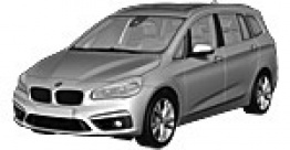 BMW 2 Series F46 Gran Tourer/Estate with original BMW Wheels