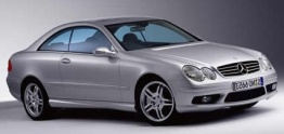 Mercedes CLK Class C209 Coupé with original Mercedes Wheels