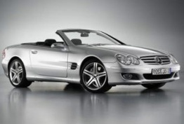 Mercedes SL Class R230 Roadster with original Mercedes Wheels