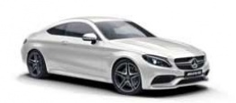 Mercedes C Class C205 C43 AMG 4Matic Coupe with original Mercedes Wheels