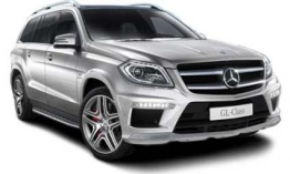 Mercedes GL Class X166 GL63 AMG SUV with original Mercedes Wheels