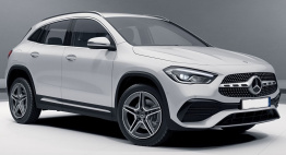 Mercedes GLA Class H247 SUV with original Mercedes Wheels