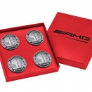Genuine AMG Emblem Centre Cap Set in Red Case