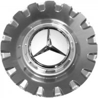Genuine Mercedes Centre Cap Large Spoked Silver Lacquered