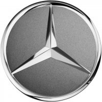 Genuine Mercedes Chrome Tantalite Grey Caps