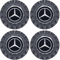 Genuine AMG Centre Cap Set Large Spoked Grey