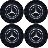 Genuine AMG Centre Cap Set Large Spoked Matt Black