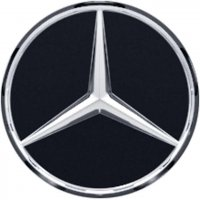 Genuine Mercedes Chrome Matt Black Caps