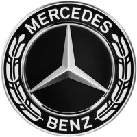 Genuine Mercedes Roadster Black Raised Star Caps 66.8mm