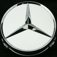Genuine Mercedes Chrome Brilliant Silver Caps 66.8mm