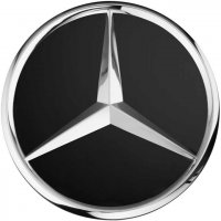 Genuine Mercedes Chrome Black Matt Caps 66.8mm