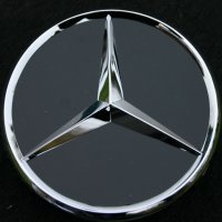 Genuine Mercedes Chrome Black Gloss Caps 66.8mm