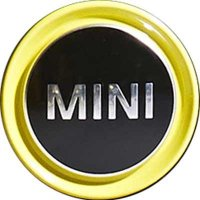 Genuine MINI Yellow Edge Centre Caps