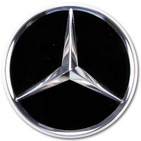 Genuine Mercedes Chrome Black Gloss Caps