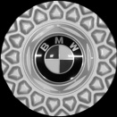 Genuine BMW 5 Standard Silver centre caps