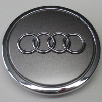 Genuine Audi 70mm Metallic Grey Centre Caps
