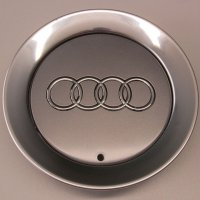 Genuine Audi 140mm Avus Silver Centre Caps