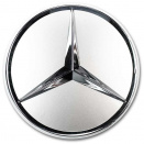 Genuine Mercedes Chrome Sterling Silver Caps