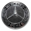 Genuine Mercedes Roadster Black Centre Caps