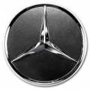 Genuine Mercedes Chrome Titanium Grey Caps