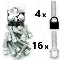 Bolt Pack C-Sec: Rust Resistant Bolts and High Security Locking Wheelbolts