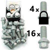 Bolt Pack A-Sec: Rust Resistant Bolts and High Security Locking Wheelbolts
