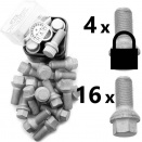 Bolt Pack P-Sec: Rust Resistant Bolts and High Security Locking Wheelbolts